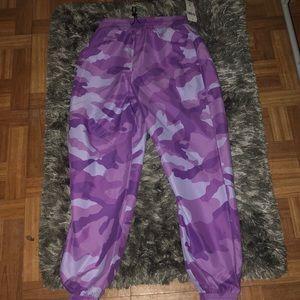 Women's purple joggers
